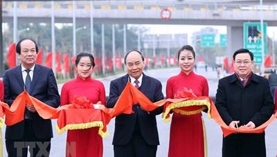 Thủ tướng dự lễ gắn biển nút giao Vành đai 3-cao tốc Hà Nội-Hải Phòng
