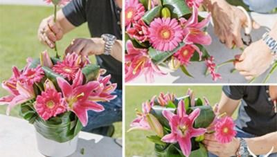 Cách cắm hoa ly trang trí nhà cửa dịp Tết