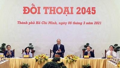 [ẢNH] Thủ tướng Nguyễn Xuân Phúc chủ trì cuộc 'Đối thoại 2045'