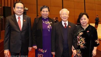 [ẢNH] Tổng Bí thư, Chủ tịch nước dự khai mạc Kỳ họp 11, Quốc hội khóa XIV