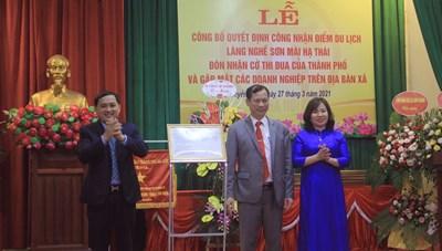Xã Duyên Thái đón nhận quyết định điểm du lịch làng nghề Hạ Thái