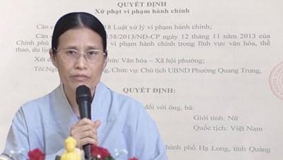 Vụ thỉnh vong tại chùa Ba Vàng: Bác yêu cầu khởi kiện của bà Phạm Thị Yến