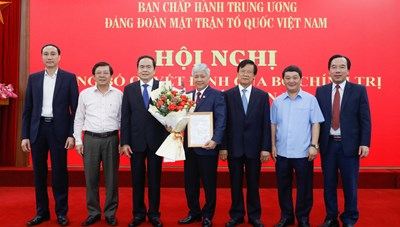 Bộ Chính trị chỉ định ông Đỗ Văn Chiến giữ chức Bí thư Đảng đoàn MTTQ Việt Nam