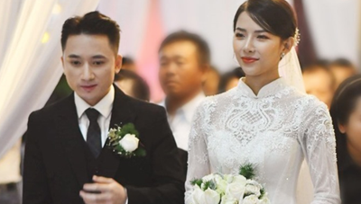 Phan Mạnh Quỳnh cưới hotgirl: Cô dâu diễm lệ, chú rể hát 'Vợ người ta'