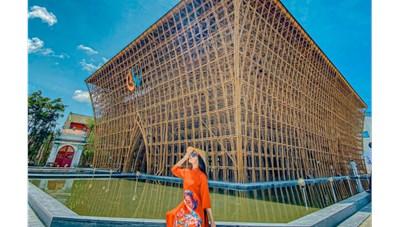 Choáng ngợp trước những hình ảnh đầu tiên của Nhà tre lớn nhất Việt Nam
