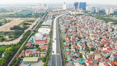 Hà Nội: Chặn đường Vành đai 3 trên cao đoạn Mai Dịch - cầu Thăng Long để thi công