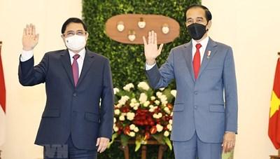 [ẢNH] Thủ tướng Phạm Minh Chính chào xã giao Tổng thống Indonesia