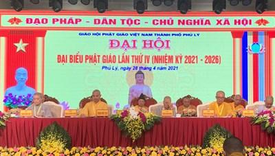 Đại hội đại biểu Phật giáo TP Phủ Lý lần thứ IV
