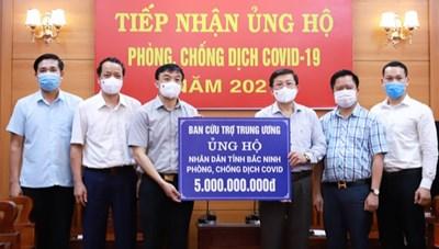 [BẢN TIN MẶT TRẬN] Mặt trận Trung ương hỗ trợ 3 tỉnh Bắc Giang, Bắc Ninh, Vĩnh Phúc 15 tỷ đồng chống dịch