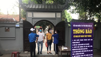Từ 29/5, Hà Nội dừng tổ chức các hoạt động tôn giáo, tín ngưỡng để phòng dịch
