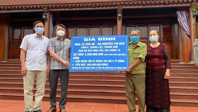 Vợ chồng người thương binh gom 4,5 tỷ đồng dưỡng già tặng quỹ vaccine
