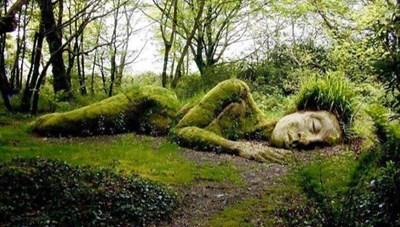 Bí ẩn tượng thiếu nữ nằm ngủ trong rừng, biến đổi theo mùa