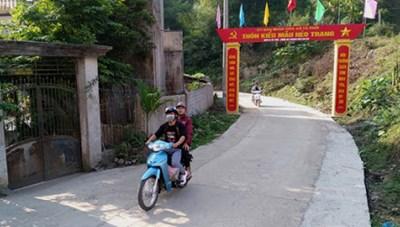 Lào Cai: Toàn tỉnh có 141 thôn được công nhận thôn kiểu mẫu