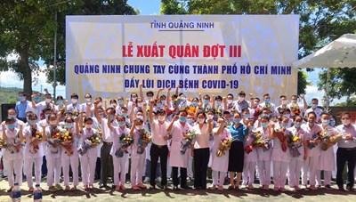 Quảng Ninh: 70 y bác sĩ xuất quân 'chia lửa' cho tuyến đầu chống dịch ở TP Hồ Chí Minh