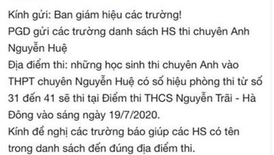 Thay đổi địa điểm thi lúc nửa đêm: Phụ huynh, học sinh nháo nhác