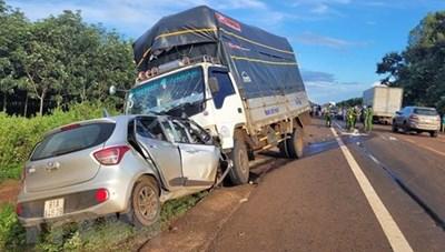Gia Lai: Tai nạn giao thông đặc biệt nghiêm trọng