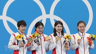Bảng tổng sắp huy chương Olympic Tokyo 2020: Ngôi đầu đổi chủ