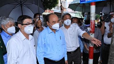 Chủ tịch nước, Chủ tịch UBTƯ MTTQ Việt Nam làm việc tại TP HCM về công tác phòng, chống dịch