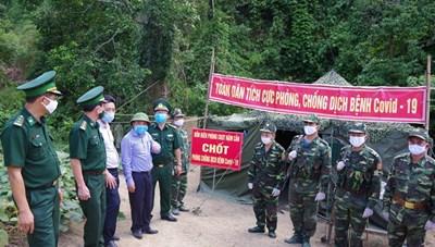 Kiểm tra công tác phòng, chống dịch Covid-19 tại biên giới Nghệ An