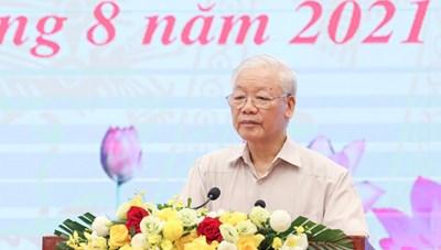 Tổng Bí thư Nguyễn Phú Trọng: Thông qua hoạt động của Mặt trận và đoàn thể để đến với nhân dân