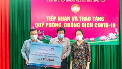 VietinBank hỗ trợ tỉnh Đồng Tháp 5 tỷ đồng phòng, chống dịch Covid-19