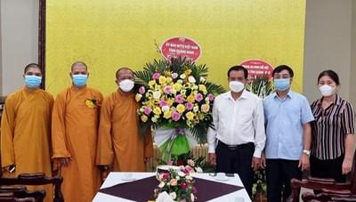 MTTQ tỉnh Quảng Ninh thăm và chúc mừng Lễ Vu Lan năm 2021