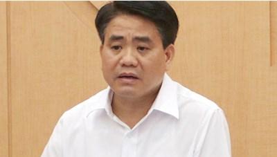 Ông Nguyễn Đức Chung bị tạm đình chỉ nhiệm vụ đại biểu HĐND Hà Nội