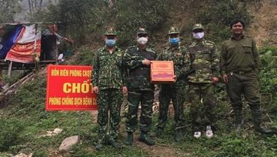 Nghệ An: Thăm, tặng quà các điểm phòng chống dịch Covid-19