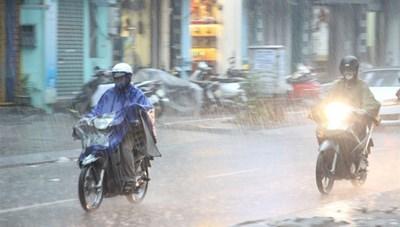 Sáng 2/10, nhiều khu vực ở miền Bắc có mưa dông