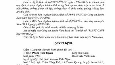 Hải Dương: Chủ quán karaoke, cafe bị phạt 20 triệu do vi phạm phòng, chống dịch