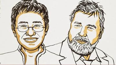 Hai nhà báo Philippines và Nga giành Giải Nobel Hòa bình 2021