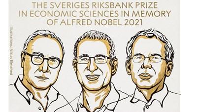 3 nhà kinh tế Mỹ được trao Giải Nobel Kinh tế 2021