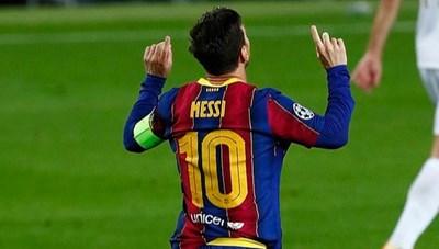 Barcelona thắng đậm, Messi lập kỳ tích ở Champions League