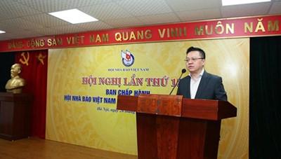Ông Lê Quốc Minh giữ chức Chủ tịch Hội Nhà báo Việt Nam nhiệm kỳ 2015-2020
