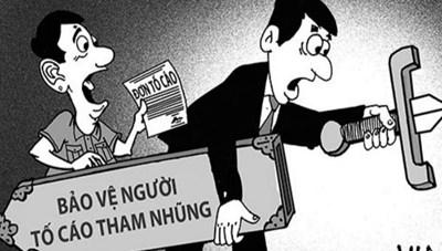 Bảo vệ người tố cáo hành vi tham nhũng, lãng phí