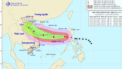 Bão số 13 sức gió 135km/giờ tiến thẳng quần đảo Hoàng Sa