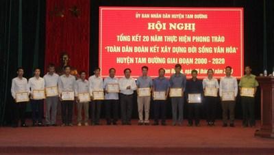 Lai Châu: Tổng kết 20 năm thực hiện phong trào 'Toàn dân đoàn kết xây dựng đời sống văn hóa'