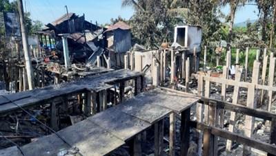 An Giang: Hỏa hoạn lúc rạng sáng, thiêu rụi 7 căn nhà