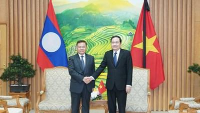 BẢN TIN MẶT TRẬN: Chủ tịch Trần Thanh Mẫn gửi Điện mừng Quốc khánh Cộng hòa Dân chủ Nhân dân Lào