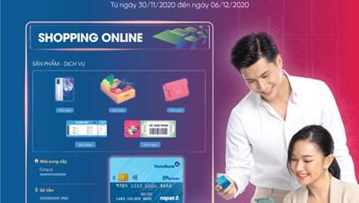 Hấp dẫn Chương trình khuyến mãi 'Mua sắm trực tuyến cùng thẻ VietinBank NAPAS'