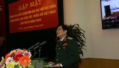Gặp mặt đoàn đại biểu Quân đội dự Đại hội các dân tộc thiểu số