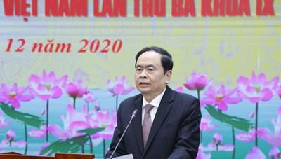 BẢN TIN MẶT TRẬN: Hội nghị lần thứ ba UBTƯ MTTQ Việt Nam khoá IX