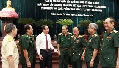 TP Hồ Chí Minh: Gặp mặt cán bộ cao cấp quân đội nghỉ hưu