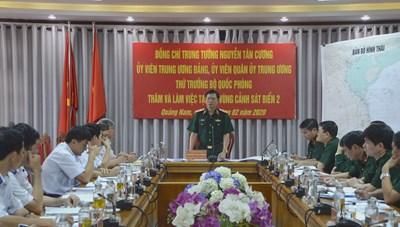 Thứ trưởng Bộ Quốc phòng làm việc với Bộ tư lệnh Vùng Cảnh sát biển 2
