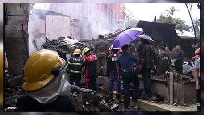 Philippines: Máy bay rơi, 7 người thiệt mạng