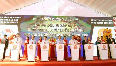 Hậu Giang: Khởi công tuyến đường 3B huyết mạch cụm công nghiệp Đông Phú