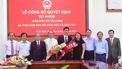 Thừa Thiên - Huế: Trao quyết định bổ nhiệm 2 lãnh đạo Sở