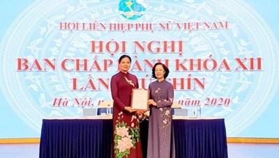 Bà Hà Thị Nga giữ chức Chủ tịch Hội Liên hiệp Phụ nữ Việt Nam
