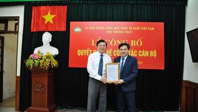 Bổ nhiệm Chánh Văn phòng Ủy ban Đoàn kết Công giáo Việt Nam