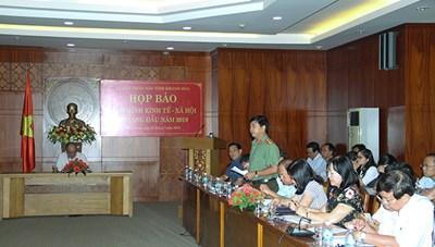 Khánh Hòa: Họp báo tình hình kinh tế - xã hội 6 tháng đầu năm